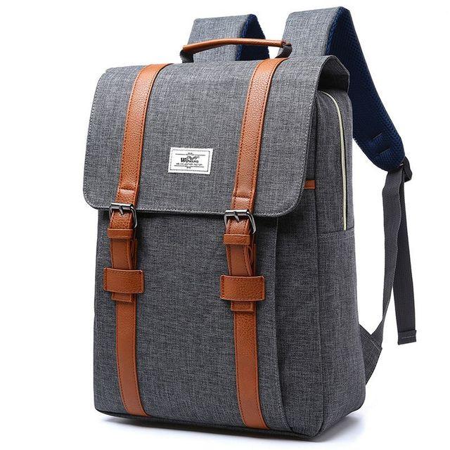 Large Capacity Laptop Backpack Vintage Men Women Canvas Backpacks