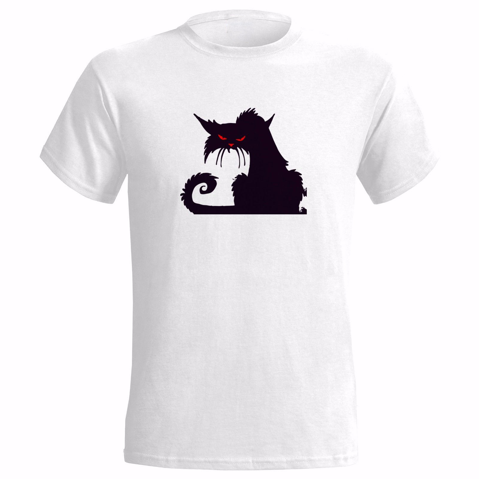 demon cat art mens t shirt satan devil rock heavy goth death metal punk cats 2018 new mens t. Black Bedroom Furniture Sets. Home Design Ideas