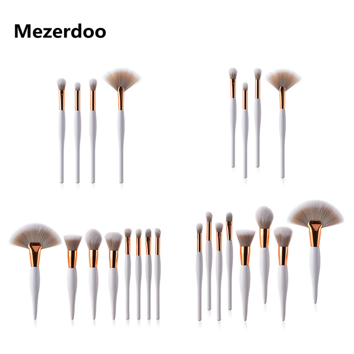 Tesoura de Maquiagem 4/8 pcs branco handle chubby Estilo : Cosmetic Brush Blusher