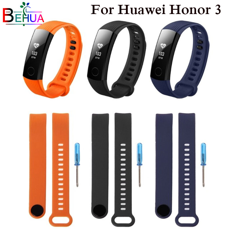 Sports Silicone Strap For Huawei Honor Band 3 Smart Bracelet Adjustment Band For Honor Band 3 Belt With Repair Tool Replacement