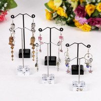 Fashion Jewelry Accessories Jewelry Display Stand 10pcs Pedestal Metal Earring Stand Holder Jewelry Store Display Shelf