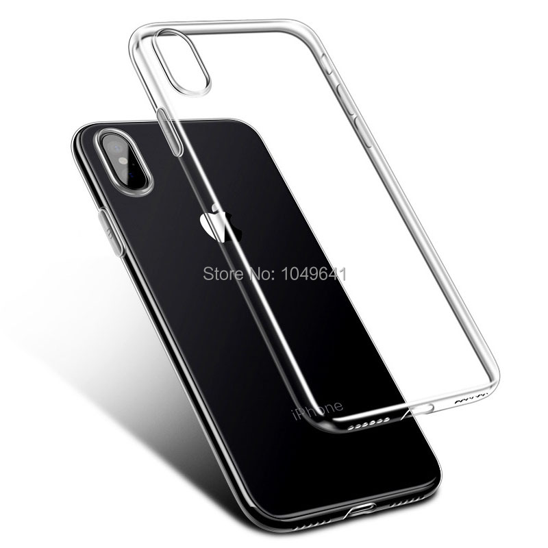 KIPX1004_5_Transparent Clear TPU Case For iPhone X.