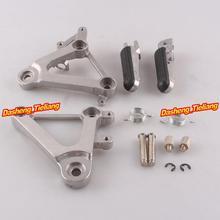 Aleación de aluminio Trasero de Pasajeros Estriberas Reposapiés Soportes para Honda CBR400 1988 1989 NC23, motocicleta piezas de Repuesto Accesorios