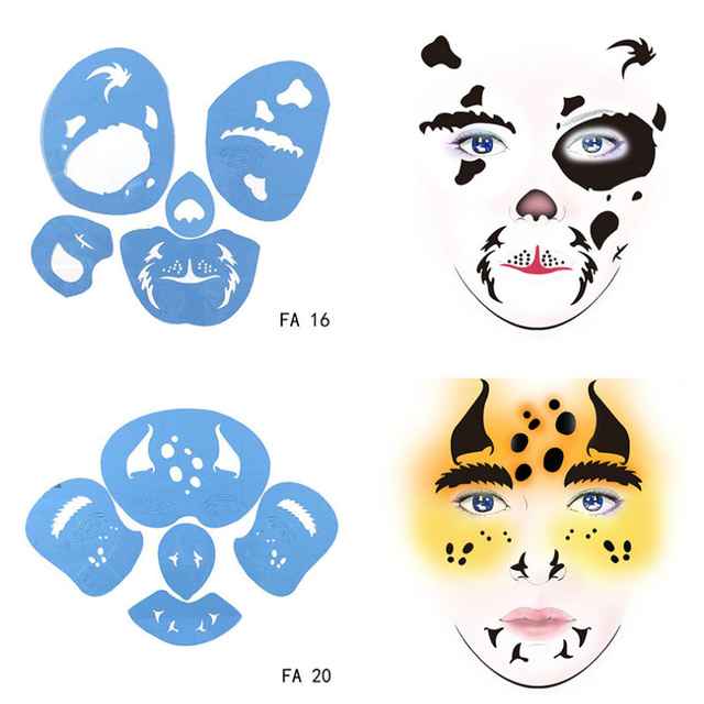 reusable soft face paint stencil animal bloodsucker body template