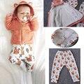 Мода фокс серии зимой ребенка устанавливает комплект одежды младенца ( 1 Cotat 1 брюки )