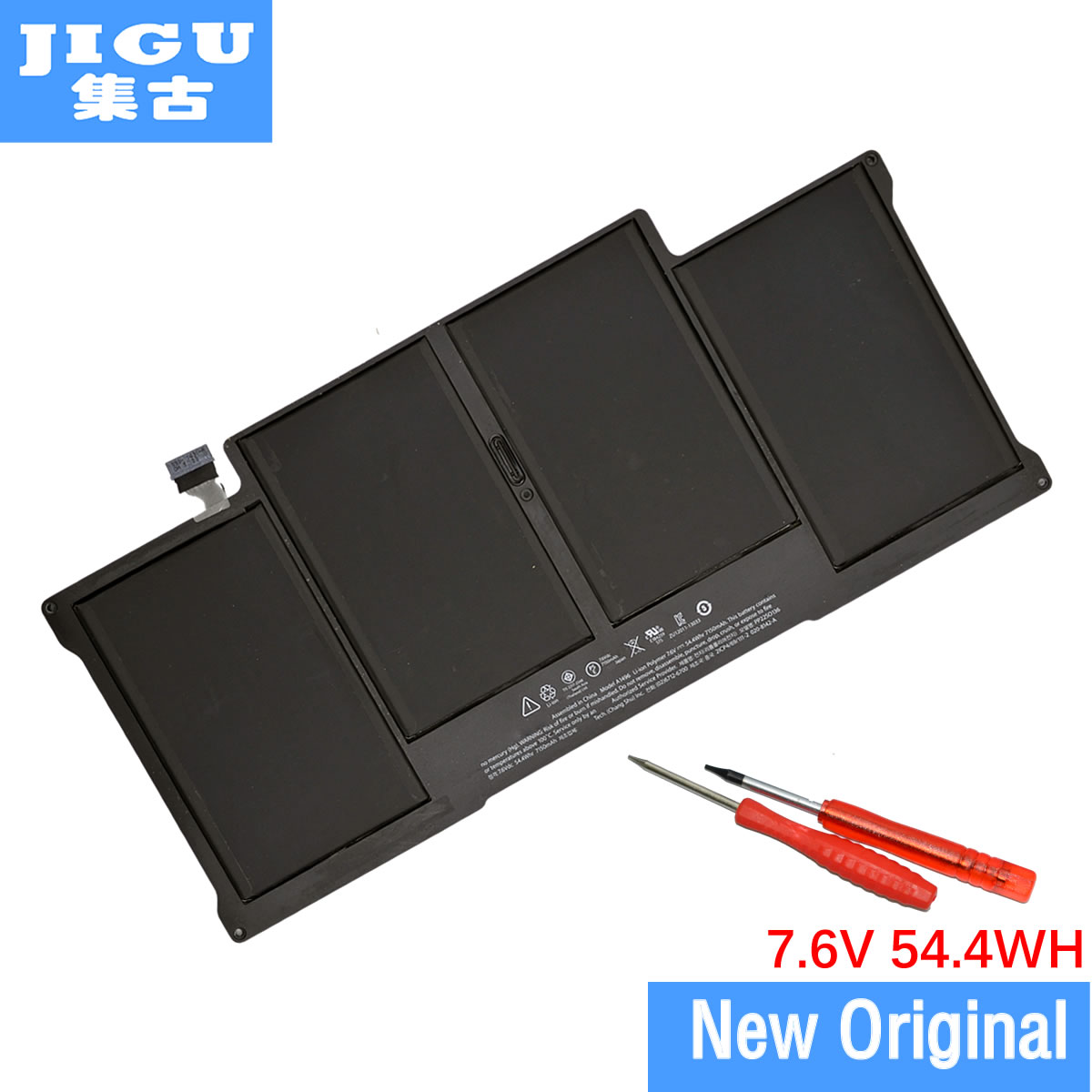 JIGU A1496 Original Laptop Battery For APPLE for MacBook Air 13 A1466 2013/2014 MD760LL/A MD761CH/A 7.6V 7150mAh new original a1466 ru russian topcase keyboad for apple macbook air a1466 13 2013 2014 free shipping