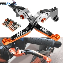 For KTM RC8 RC8R RC125 RC200 RC390 Motorbike CNC Aluminum Levers Motorcycle Brake Clutch Foldable Extendable Adjustable
