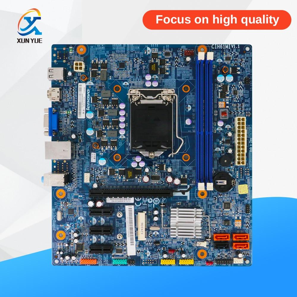 все цены на For Lenovo CIH61MI V1.1 Desktop Motherboard H61 Socket LGA 1155 i3 i5 i7 DDR3 8G ATX онлайн