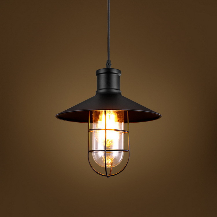 Industrial Vintage Pendant Light Edison Bulb with Cage Lamp Shade Cover Loft Retro Light. цена