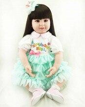 22Inch Kids Toys for Children Handmade Reborn Dolls 55CM Lifelike Vinyl Reborn Boneca Bebe Fashion Girls Toy Juguetes Brinquedos