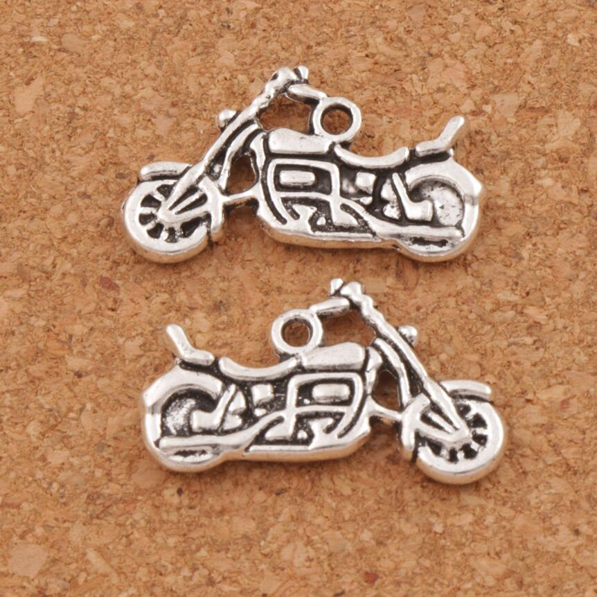 Motorcycle Spacer Charm Beads Pendants 24.5x14.3mm 27pcs Antique Silver Alloy Handmade Jewelry DIY L494