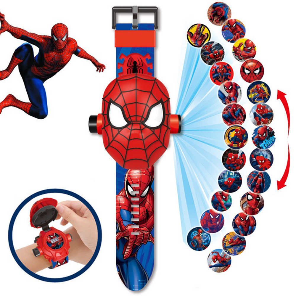Magic Projection Watch Toys for Children Electronic Gadgets Marvel Avengers Super Heroes Ironman Spiderman Boy Girls Gift