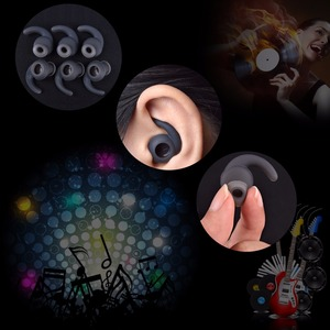 Image 2 - 3pairs/lot Soft Silicone Ear Pads Eartips for Earphone Silicone case Ear Hook In ear Earbuds Earphone Accessories Ear tips