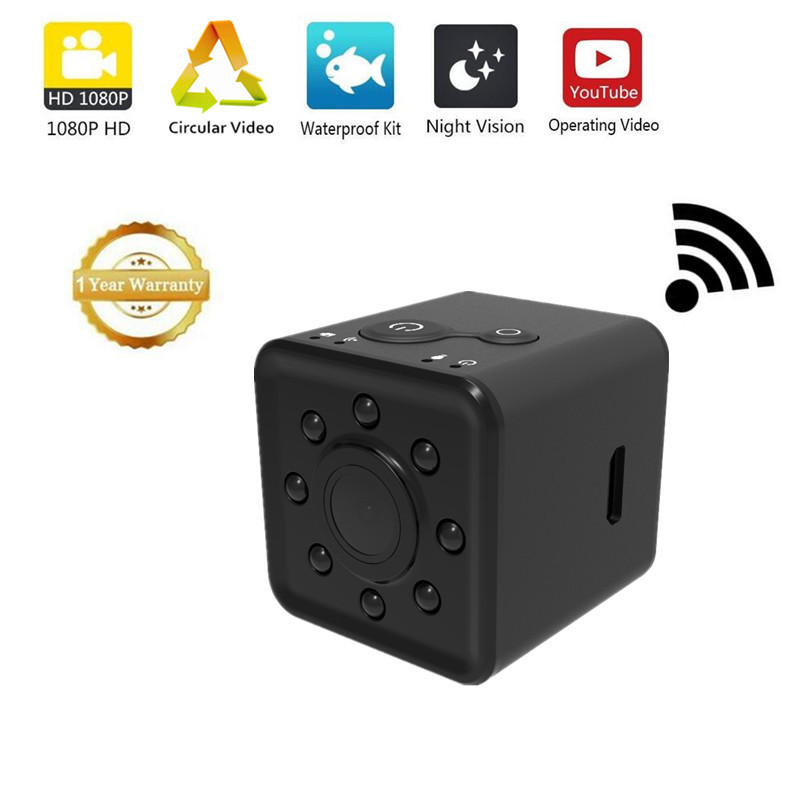 mini camera wifi sansnail sq13 camara espia 1080p hd waterproof camera espion with ferromagnetic. Black Bedroom Furniture Sets. Home Design Ideas
