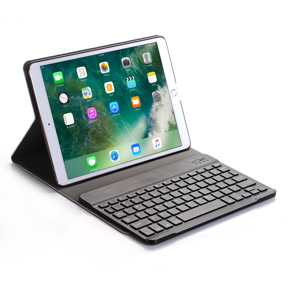 Russian/Hebrew/Spanish Removable Wireless Bluetooth Keyboard Stand PU Leather Case Cover For Apple iPad Pro 10.5 10.5 Tablet removable wireless bluetooth russian hebrew spanish keyboard stand pu leather case for samsung galaxy tab a 9 7 t555 t551 t550