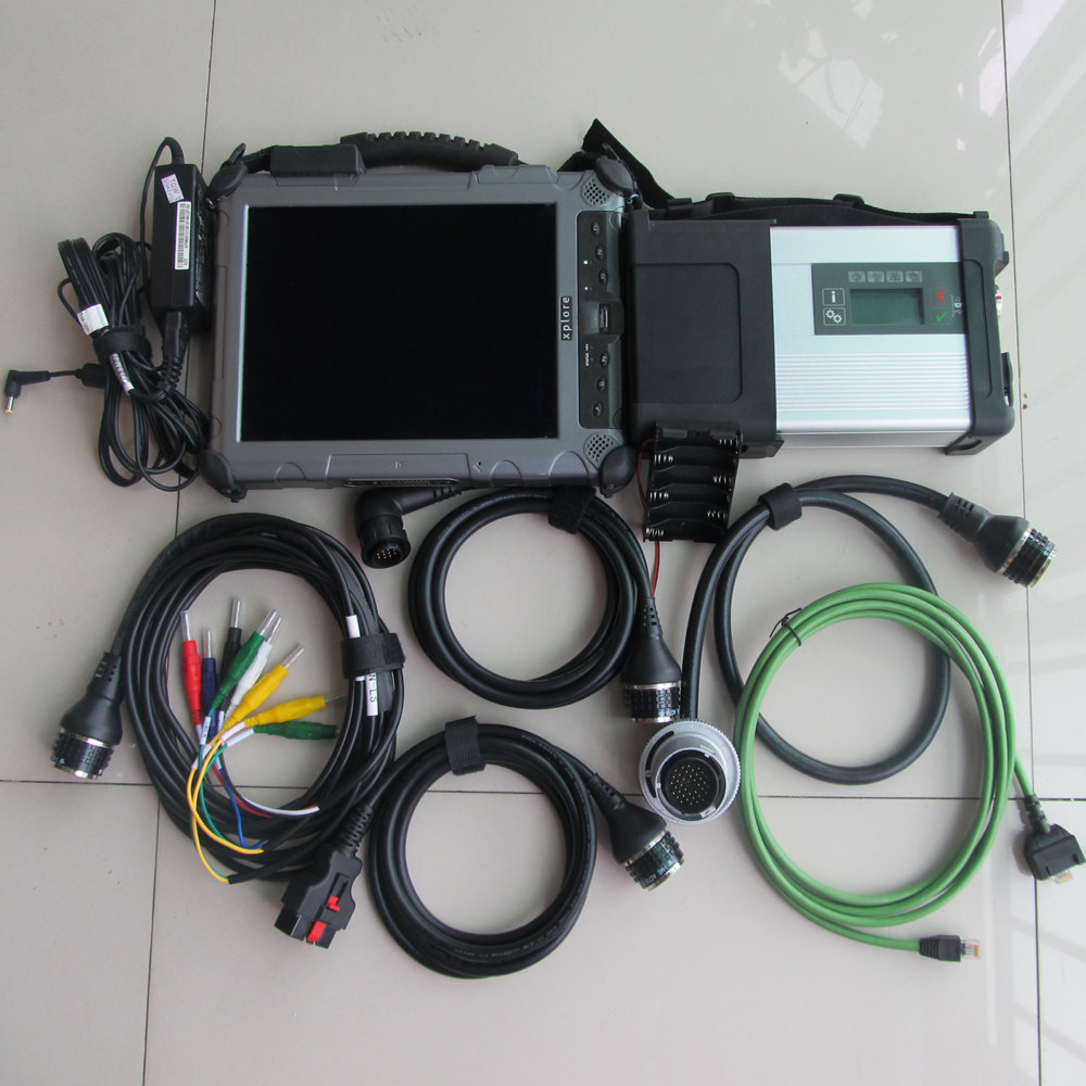 mb sd connect c5 with ix104 tablet diagnostic laptop (4g, i7) installed well with mb star c5 mini ssd 2018.12v software super