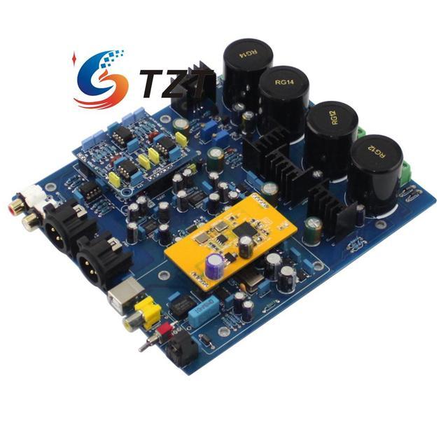 DSD1796 NE5532 Double Chip DAC Decoder Board Coaxial Optical Fiber USB Input for Audio DIY