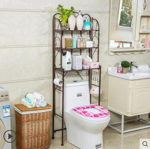 Image 3 - Bathroom shelf toilet shelf floor toilet shelf-in Storage Holders & Racks from Home & Garden