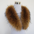 Hot ! 80cm Large True 100% Raccoon Fur Collar Real Genuine Collar Fur Scarf Shawl Wrap Great QS-103