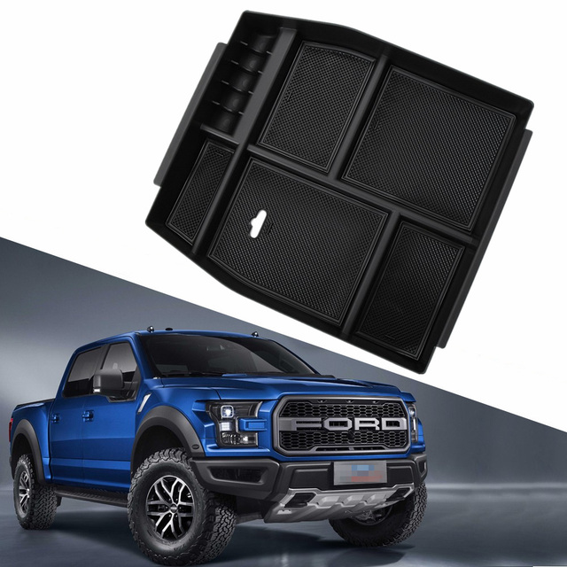 Center Console Armrest Tray Organizer Storage Box Fits For Ford F150