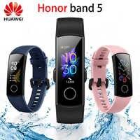 Original Huawei Honor Band 5 pulsera inteligente oxímetro Color pantalla táctil natación movimiento detectar ritmo cardíaco dormir Nap para xiaomi mi