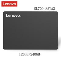 Original Lenovo SSD SL700 Internal Solid State Disk 120GB 240GB Flash Shark Hard Drive SATA3{6Gbps) for Laptop Desktop PC