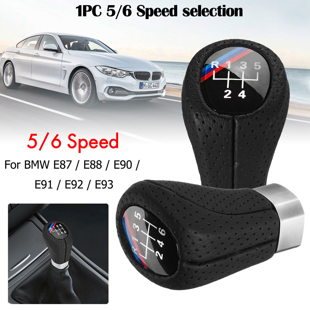 /6 Speed Car Gear Shift Knob 1 3 5 6 Serie E30 E32 E34 E36 E38 E39 E53 E60 E63 E83 E84 E87 E90 E91 E92 F30 Car Accessories