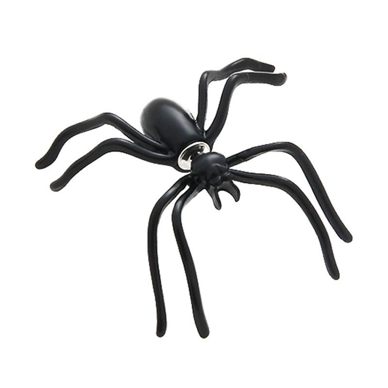 1pair 35*35mm So Cool Animals Scary Black Spider Earring Halloween Prop Decoration For Women Girl Gifts Home Party Desktop Decor