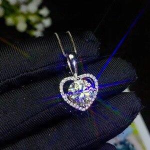 Image 1 - Collar de moissanita súper caliente, Plata de Ley 925, GEMA de quilates, color hermoso, moissanita real