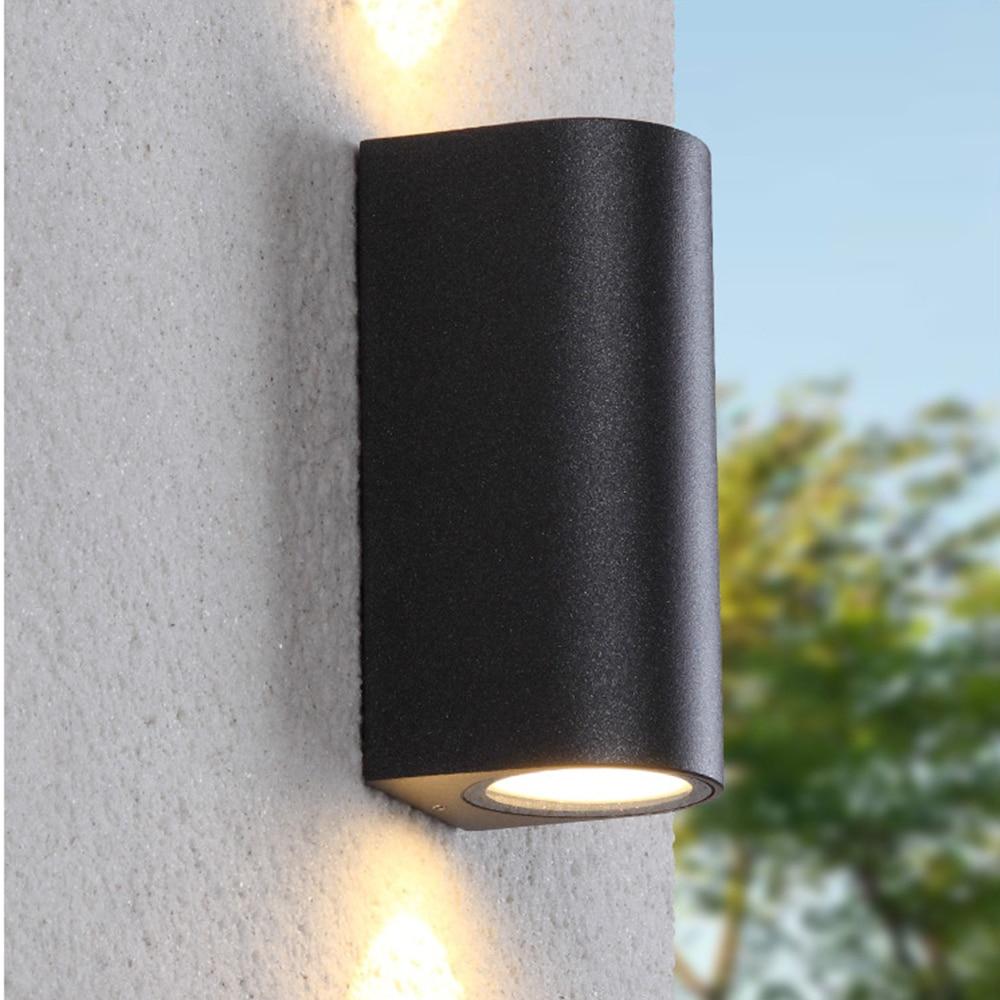 220 v 110 v luz ip44 led preto ao ar livre lampada de parede exterior a