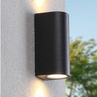 220V 110V Light IP44 LED Black Outdoor Wall Lamp Exterior Waterproof for House Outside Porch Gate Balcony Garden Veranda