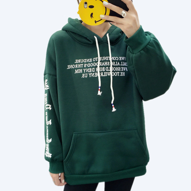 THICK LETTER HOODIE (3 VARIAN)