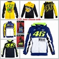 2016 New Clothing 100% Cotton Luna Rossi VR46 Hoodies MotoGP Factory Racing Jackets Motorcycle Casual Winter Motorbike VR46 Coat