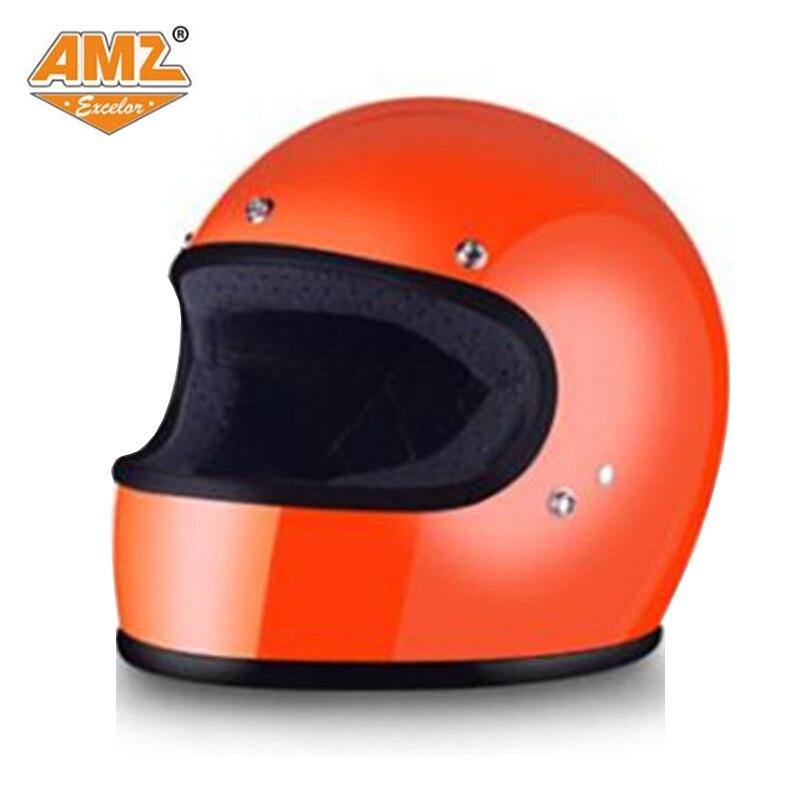 AMZ Lourd locomotive plein visage casque rétro Halley hiver hommes et femmes casque de moto quatre saisons