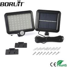 Boruit 56 Movido A Energia Solar LEVOU Luz com PIR Sensor de Movimento Do Corpo Da Lâmpada Holofotes Ao Ar Livre Quintal Jardim Iluminação Holofotes luzes de Parede