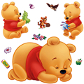 Free shipping  Removable baby wall stickers winnie the pooh nursery wall decals home decor pvc wall pictures