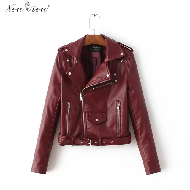 Manteau veste en cuir femme