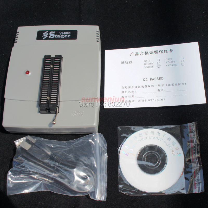 VSpeed VS4800 USB Universal Programmer Bios GAL EPROM FLASH 51 AVR PIC MCU SPI genius g540 usb universal bios gal programmer eprom flash 51 avr pic mcu spi support 6000 chips 24 25 93 cxx with 4 pcs adapters