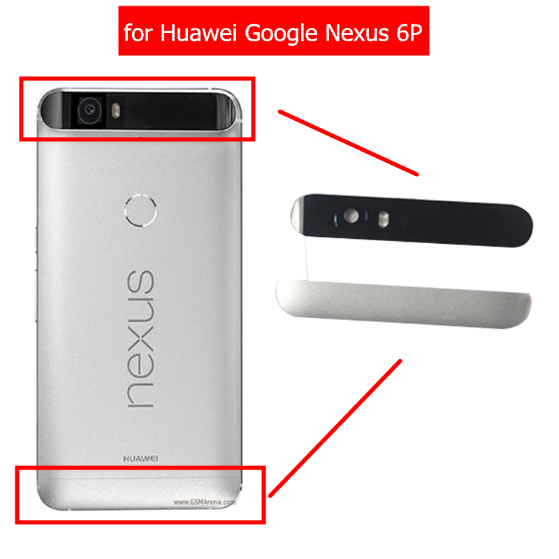 Camera Replacement Top-Glass Back-Battery Nexus 6p Google Flash-Lens Housing-Door Rear-Cover