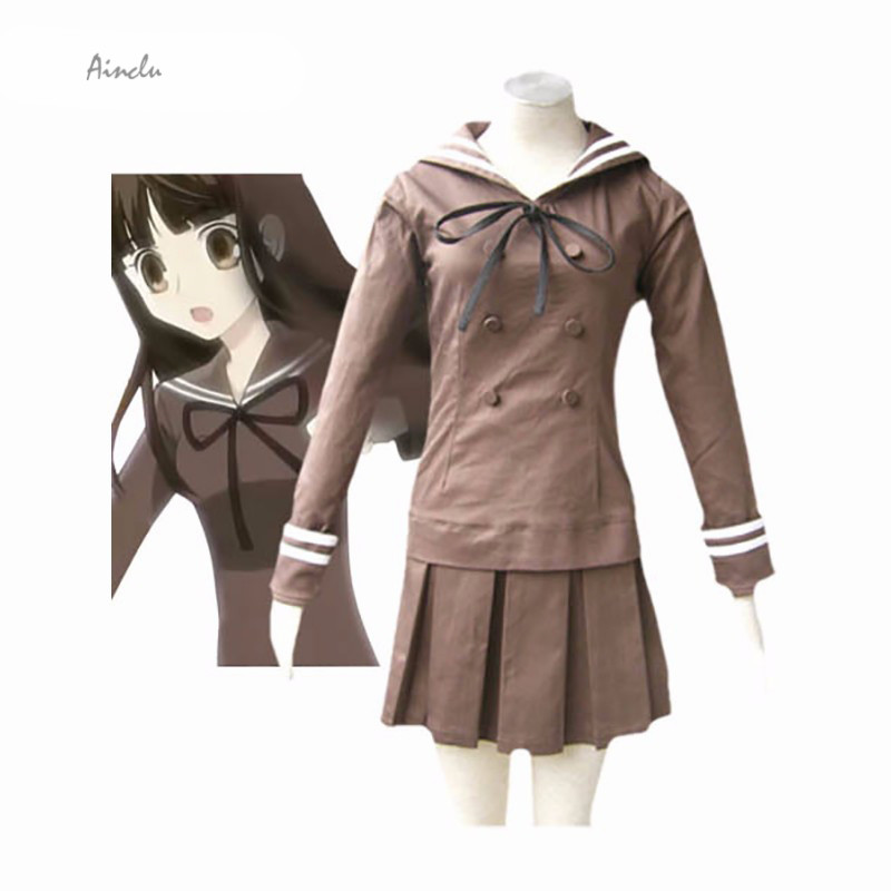 Ainclu Customize Hot Free shipping Custom cheap Tamaki girl Cosplay Costume school uniform from Ouran High School Host Club