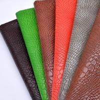 1 Meter Fake Snake Skin Print Eco Leather Fabric Furnishing Fabrics Leather Upholste Car Faux Cuir Tissu Telas Vinil Kunstleder
