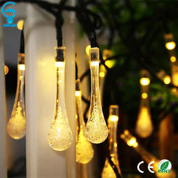 Solar String Light 30 LED Waterproof Water Drop String Fairy Light Outdoor Garden Christmas Party Decoration Solar Lights - DISCOUNT ITEM  20% OFF All Category