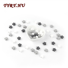TYRY.HU 100PC Star-Shaped Silicone Beads BPA Free Food Grade Teether Materials for DIY Baby