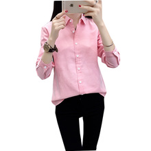 Womens Tops And Blouses Autumn Long Sleeve Oxford Women Clothes 2019 Solid Color Ladies
