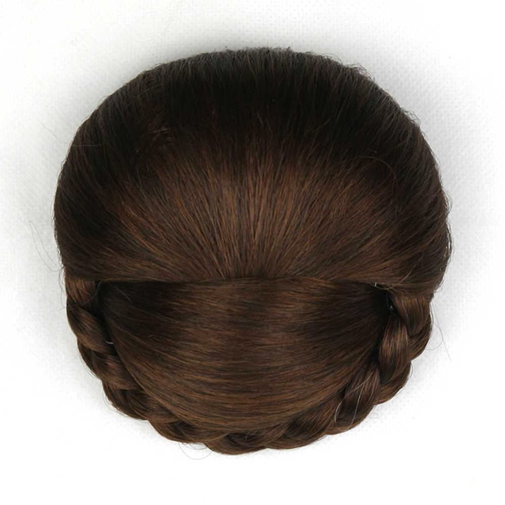 Soowee 6 цветов высокотемпературное волокно синтетические волосы булочка клип в волосы шиньон ролик аксессуары для шиньонов