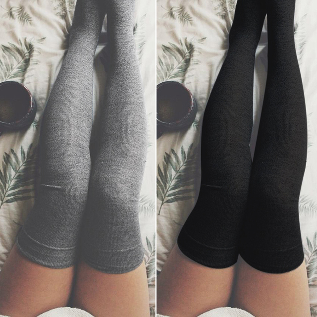 bdd2e5320a4 Sexy Women Stockings Cotton Over Knee Socks 2018 Autumn Winter Warm Thigh  High Long Socks Fashion