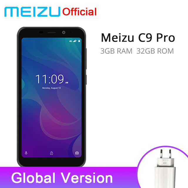 Official Global Version Meizu C9 Pro 3GB 32GB Mobile Phone Quad Core 5.45'' 1440X720P Front 13MP Rear 13MP 3000mAh Battery