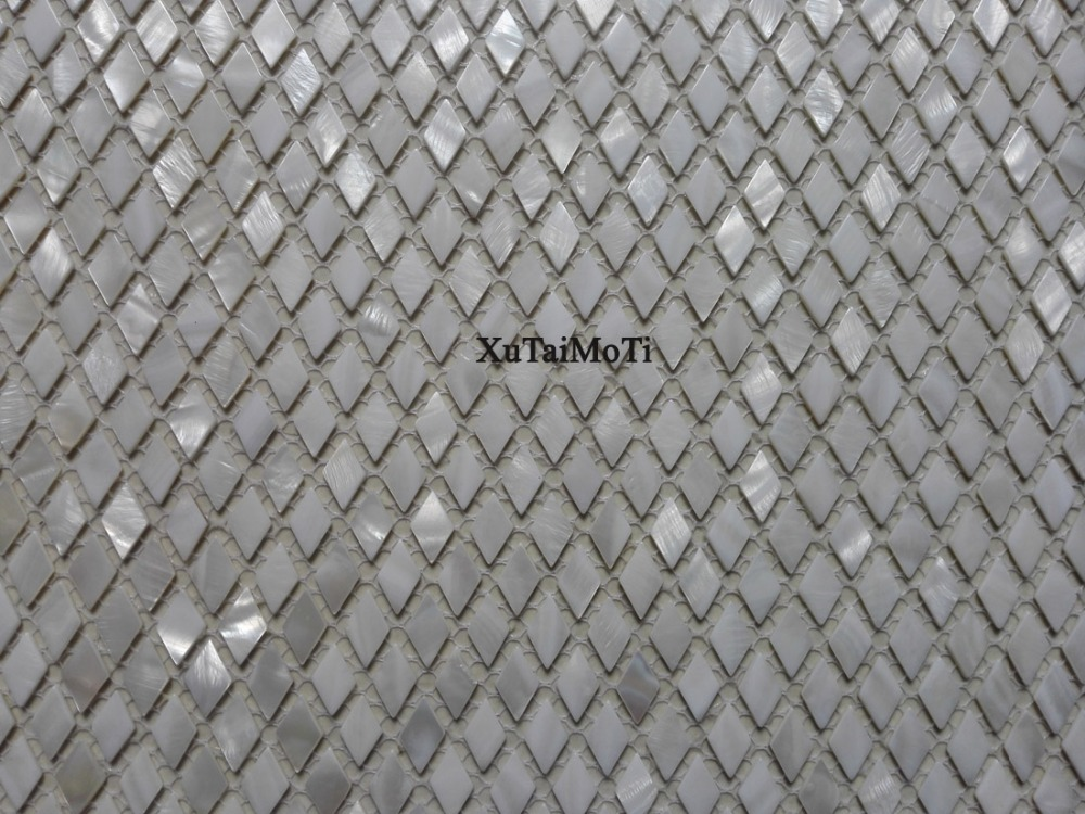 Pz bianco rombo mattonelle di mosaico delle coperture