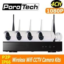 CCTV System 1080P 4CH Wireless NVR Kit 500m cascade mode wifi cctv kits IR night vision IP Camera Surveillance System Set
