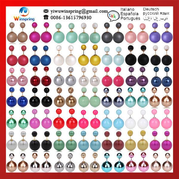 Discount ~!MN_T_ITEM_TITLE_2!~.8/Pair MOQ 1Pair 150Colors Pearl Earri...